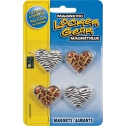 Staples® Glass Magnets, 4/Pack