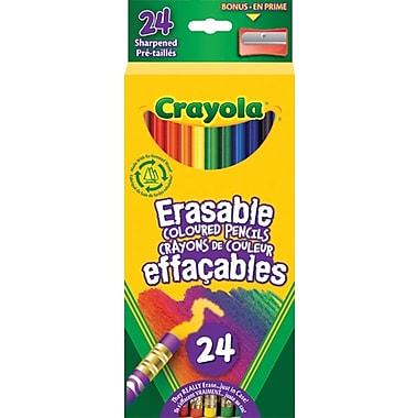 Crayola® - Crayon de couleur effaçable, paq./24