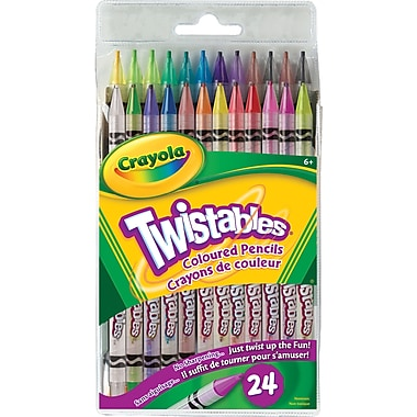 Crayola® Twistables Coloured Pencils, 24/Pack