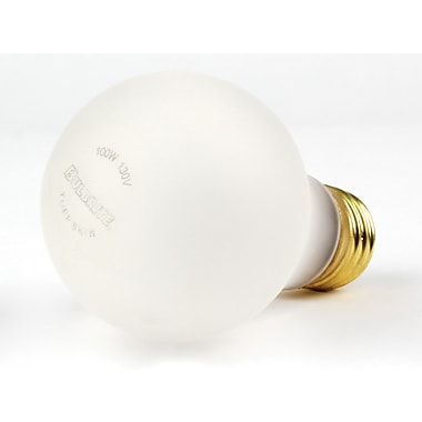 100 Watt Bulbrite® A19 Frost E26 Dimmable Shatter Resistant Warm White Bulbs