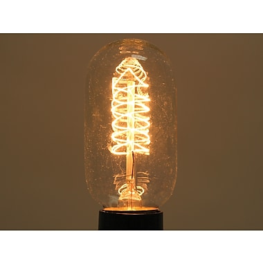 40 Watt Bulbrite® T14 Antique E26 Nostalgic Decorative Bulb W/Spiral Filament (10-Pack), Warm White