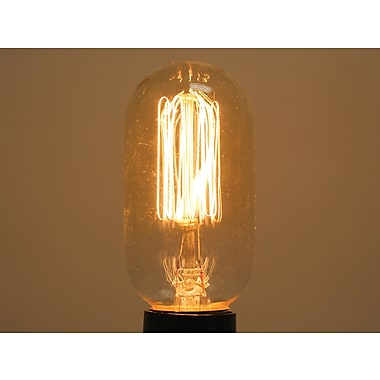 40 Watt Bulbrite® T14 Antique E26 Nostalgic Decorative Bulb W/Thread Filament (4-Pack), Warm White
