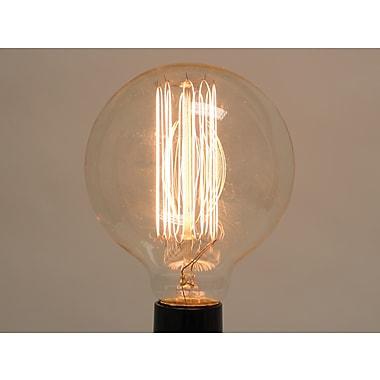 40 Watt Bulbrite® G30 Clear E26 Nostalgic Antique Replica Globe Bulb (2-Pack), Warm White