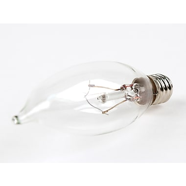 10 Watt Bulbrite® Krystal Touch® CA8 Clear E12 Krypton Cool White Decorative Bulbs