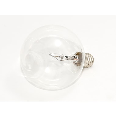 40 Watt Bulbrite® Krystal Touch® G16 1/2 Clear E12 Krypton Decorative Bulb (10-Pack), Cool White