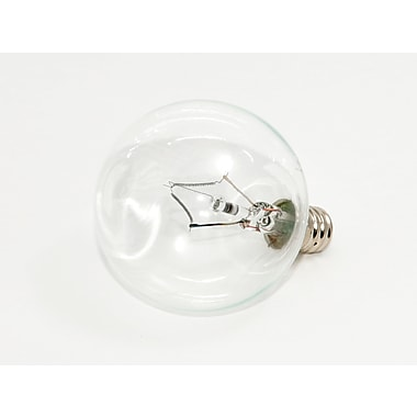 60 Watt Bulbrite® Krystal Touch® G16 1/2 Clear E12 Krypton Decorative Bulb (10-Pack), Cool White