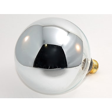 100 Watt Bulbrite® G40 Mirror E26 Clear Half Chrome Bulb (6-Pack), Warm White