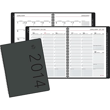 2014 AT-A-GLANCE® Contemporary Weekly/Monthly Appointment Book, 8 1/4in. x 10 7/8in.