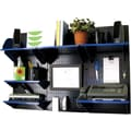 Wall Control Desk and Office Craft Center Organizer Kit, Black Tool Board and Blue Accessories