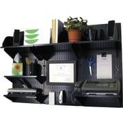 Wall Control Desk and Office Craft Center Organizer Kit, Black Tool Board and Black Accessories