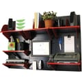 Wall Control Desk and Office Craft Center Organizer Kit, Black Tool Board and Red Accessories