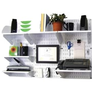 Wall Control Desk and Office Craft Center Organizer Kit, White Tool Board and White Accessories