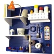 Wall Control Craft Center Pegboard Organizer Kit, Blue Tool Board and White Accessories