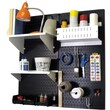 Wall Control Craft Center Pegboard Organizer Kit, Black Tool Board and White Accessories