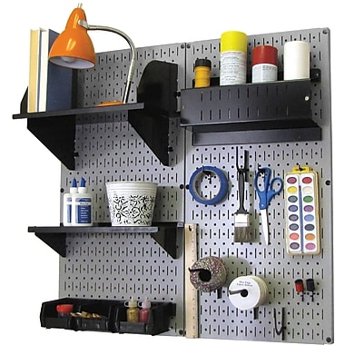 Wall Control Craft Center Pegboard Organizer Gray Tool Board and Accessories Kit
