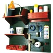Wall Control Craft Center Pegboard Organizer Kit, Green Tool Board and Red Accessories