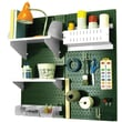 Wall Control Craft Center Pegboard Organizer Kit, Green Tool Board and White Accessories