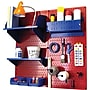 Wall Control Craft Center Pegboard Organizer Kit, Red
