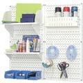 Wall Control Craft Center Pegboard Organizer White Tool Board and Accessories Kit