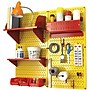 Wall Control Craft Center Pegboard Organizer Kit, Yellow