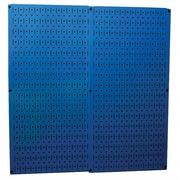 Wall Control Combo Metal Pegboard Panel, Blue, 2/Pack