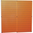 Wall Control Combo Metal Pegboard Panel, Orange, 2/Pack