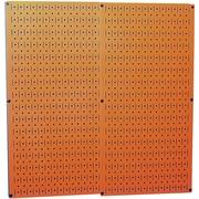 Wall Control Combo Metal Pegboard Panel, Orange, 2/Pack