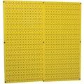 Wall Control Combo Metal Pegboard Panel, Yellow, 2/Pack