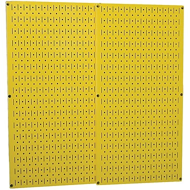 Wall Control Combo Metal Pegboard Panel, Yellow, 2/Pack