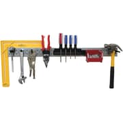 Wall Control Tool Rack Metal Pegboard Tool Strip Kit, Galvanized Strips and Black Accessories