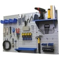 Wall Control 4' Metal Pegboard Standard Workbench Gray Tool Board and Accessories Kit