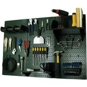 Wall Control 4' Metal Pegboard Standard Workbench Kit, Green Tool Board and Black Accessories