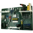 Wall Control 4' Metal Pegboard Standard Workbench Kit, Green Tool Board and White Accessories