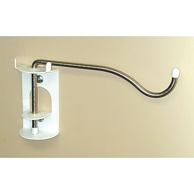 Wall Control Stainless Steel Pivot Hook/IV Hook, White