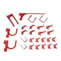 Wall Control Deluxe Metal Pegboard Hook Kit, Red