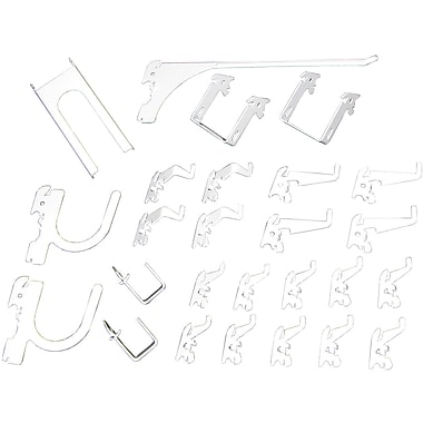 Wall Control Deluxe Metal Pegboard Hook Kit, White
