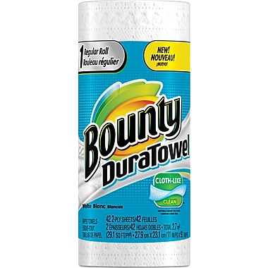 Bounty DuraTowel Paper Towels, Single Roll