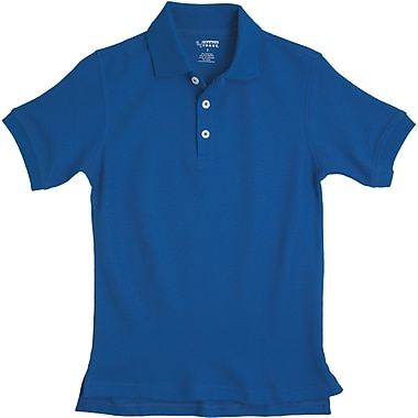 French Toast Unisex Short Sleeve Pique Polo, Royal Blue Size 18 Husky
