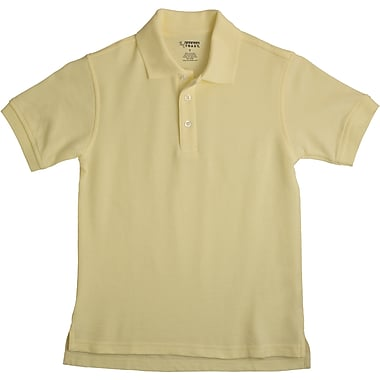 French Toast Unisex Short Sleeve Pique Polo, Yellow Size 12 Husky
