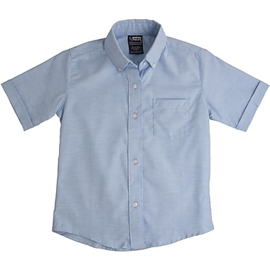 French Toast Boys Short Sleeve Oxford Shirt, Light Blue, Size 10