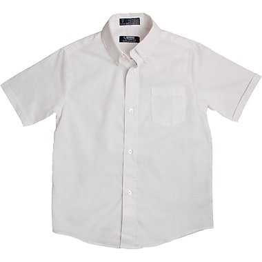 French Toast Boys Short Sleeve Oxford Shirt, White, Size 14 Husky