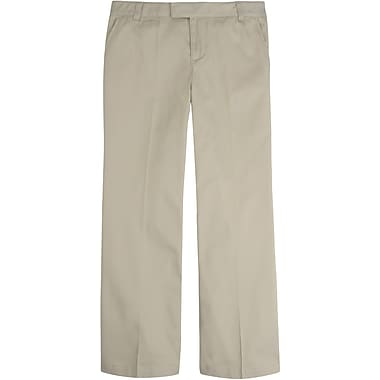 French Toast Girls Adjustable Waist Pant, Khaki, Size 6 Slim