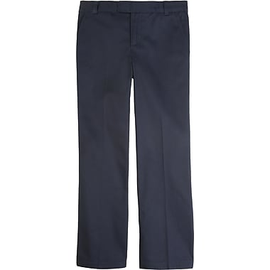 French Toast Girls Adjustable Waist Pant, Navy, Size 14 Slim