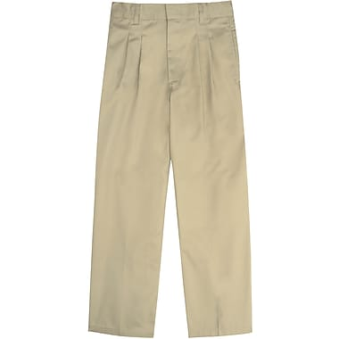 French Toast Boys Pleated Adjustable Waist Double-Knee Pants, Khaki