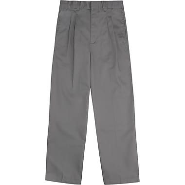 French Toast Boys Pleated Adjustable Waist Double-Knee Pants, Light Grey