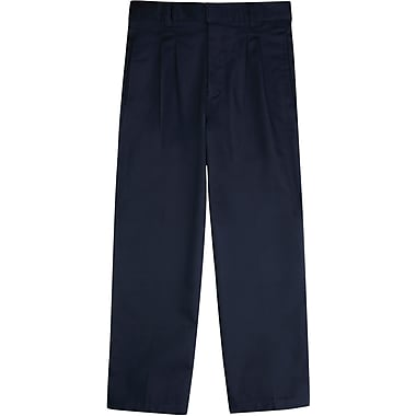 French Toast Boys Pleated Adjustable Waist Double-Knee Pants, Navy