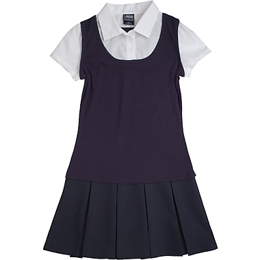 French Toast Girls 2-in-1 Pleated Dresses, Navy