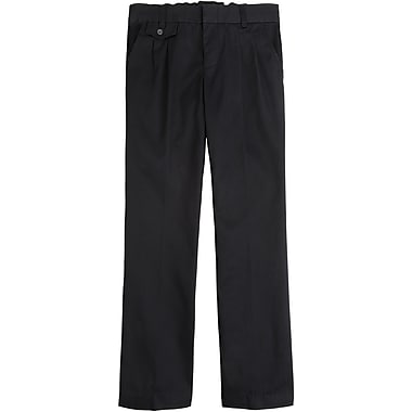 French Toast Girls Adjustable Waist & Hem Pleated Pants, Black