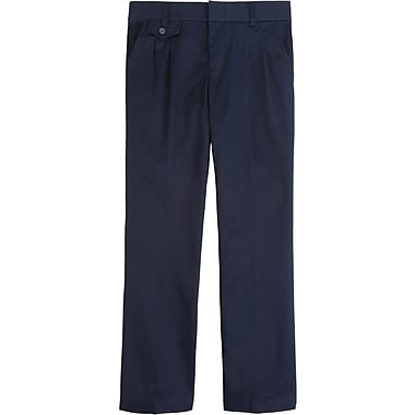 French Toast Girls Adjustable Waist Pleated Pants, Navy