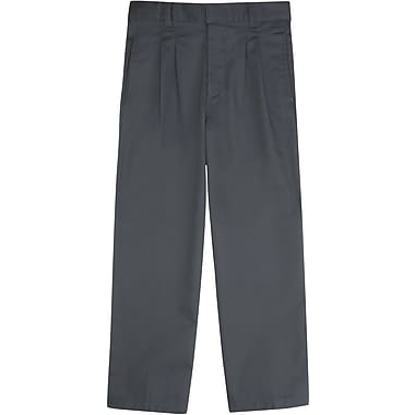 French Toast Boys Pleated Adjustable Waist Pant (Modern Fit), Grey, Size 12